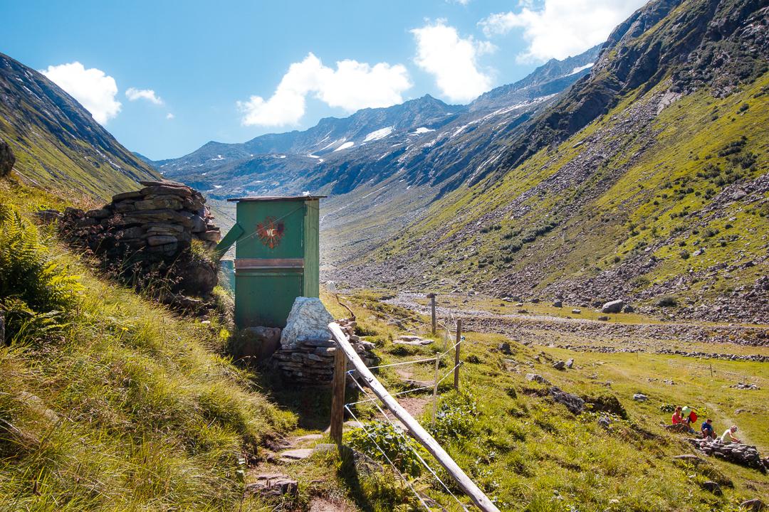 Toilette an der Hohenaualm