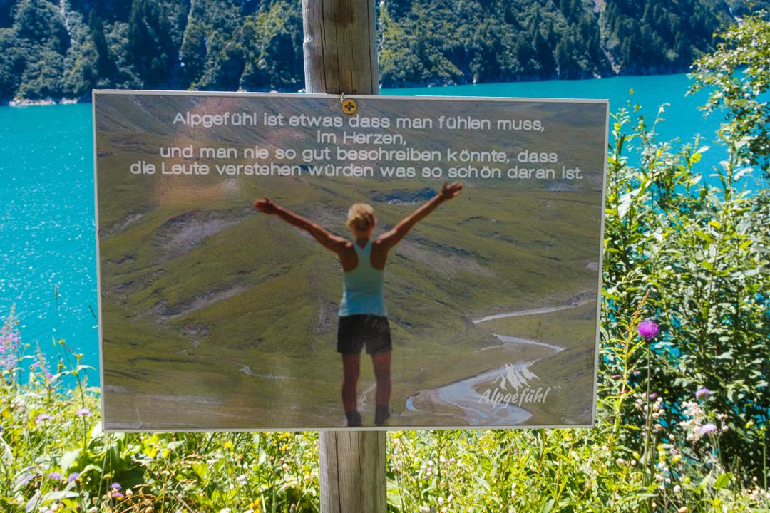 Spruchtafeln am Zillergrund Stausse im Zillertal