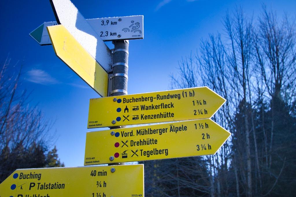 Wanderschild Buchenberg Rundweg